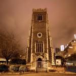 Ipswich Churches At Night